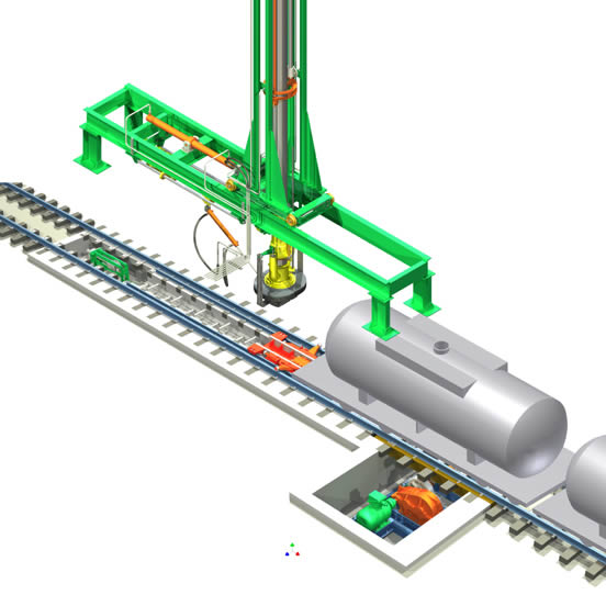 Hydraulic Loading Arms : On spot loading arm system ccl hydraulic lifting device